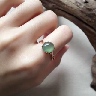153 k18 翡翠 ヒスイ高級なリング 贅沢指輪  ピンクゴールドリング ダイ(リング(指輪))