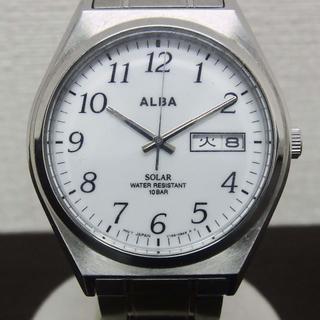 アルバ(ALBA)の美品 メンズソーラー腕時計(AEFD563)V158-0AL0/セイコーアルバ(腕時計(アナログ))
