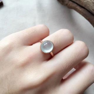 156 k18 翡翠 ヒスイ高級なリング 贅沢指輪  ピンクゴールドリング ダイ(リング(指輪))