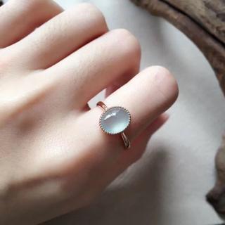 157 k18 翡翠 ヒスイ高級なリング 贅沢指輪  ピンクゴールドリング ダイ(リング(指輪))