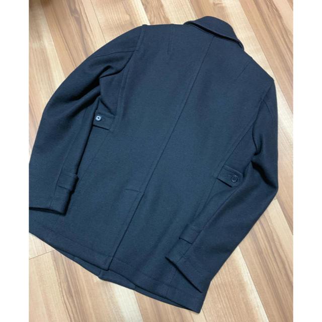 JOSEPH(ジョゼフ)の美品 JOSEPH HOMME ジョゼフオム Pコート ウール 黒 46 メンズのジャケット/アウター(ピーコート)の商品写真