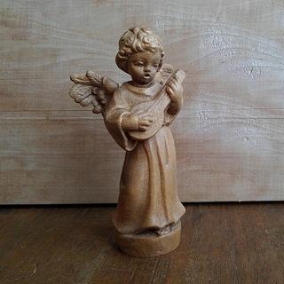 木彫りの天使(彫刻/オブジェ)