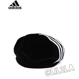 アディダス(adidas)の♡adidas♡レア♡ベロア♡ベレー帽♡アディダス♡新品未使用♡(ハンチング/ベレー帽)