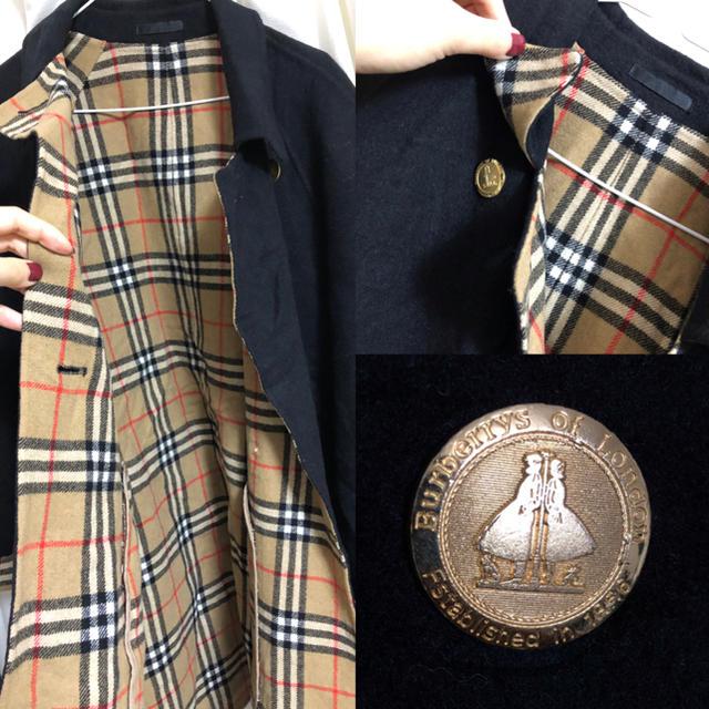 BURBERRY(バーバリー)のBurberrys バーバリーズ  カシミヤ入りウールコート チェック柄 レディースのジャケット/アウター(ロングコート)の商品写真