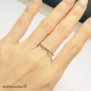19号サイズ ステンレス製 シルバー色リング  カットタイプ 指輪(リング(指輪))