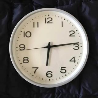 ムジルシリョウヒン(MUJI (無印良品))の無印良品 壁掛けアナログ時計 大型 シルバー(掛時計/柱時計)