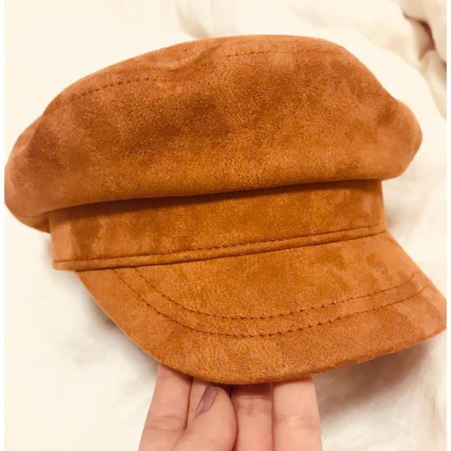 Ungrid(アングリッド)のungrid スウェード キャスケット レディースの帽子(キャスケット)の商品写真