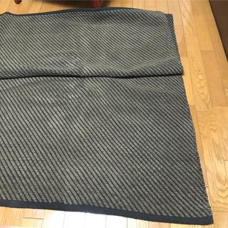 ムジルシリョウヒン(MUJI (無印良品))の未使用品 無印良品 インド綿手織シェニールラグ 200×200 ブラウン 大判(ラグ)