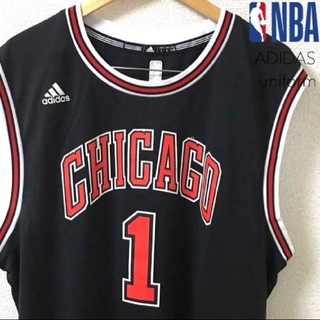 アディダス(adidas)の2620 NBA BULLS ブルズ 1 ローズ ユニフォーム アディダス(タンクトップ)