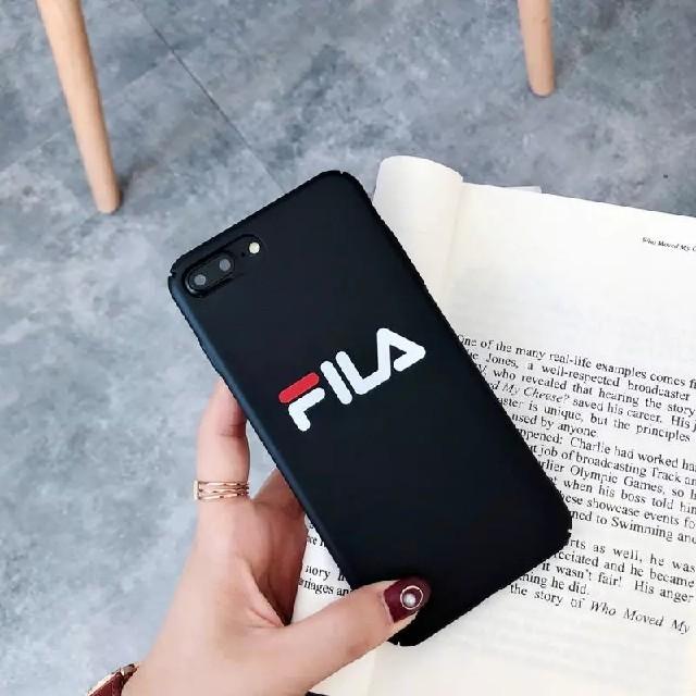 iPhoneケース FILA ブラックの通販 by ちきちき's shop|ラクマ