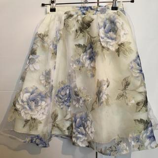 エベルモーション(EBELE MOTION)のEBELE MOTION  花柄スカート(ひざ丈スカート)
