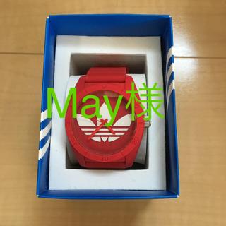 アディダス(adidas)の【美品】adidas 時計 赤 レッド(腕時計)