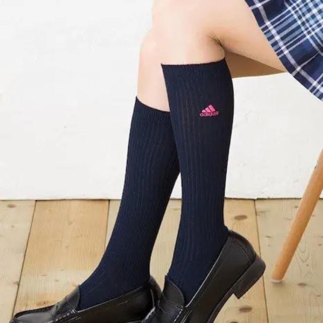 adidas(アディダス)の【アディダス】スクールリブ 3足セット レディースのレッグウェア(ソックス)の商品写真