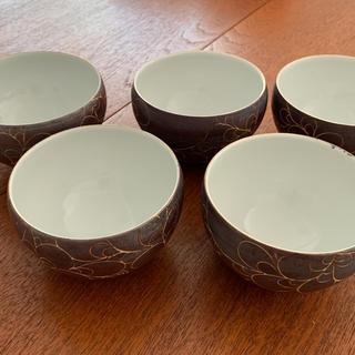 ハクサントウキ(白山陶器)の作家もの 湯のみ 5個セット(グラス/カップ)