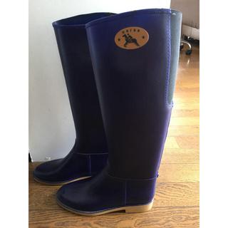ダフナ(Dafna)の美品 ダフナ レインブーツ ダークネイビー 23センチ(レインブーツ/長靴)