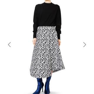 ルシェルブルー(LE CIEL BLEU)のルシェルブルー オプティカルフラワージャガードスカート(ひざ丈スカート)