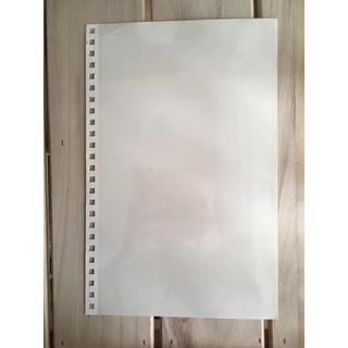 ムジルシリョウヒン(MUJI (無印良品))の無印良品 ポリプロピレンカバー台紙に書きこめるアルバム用 A4 白 12枚セット(ファイル/バインダー)