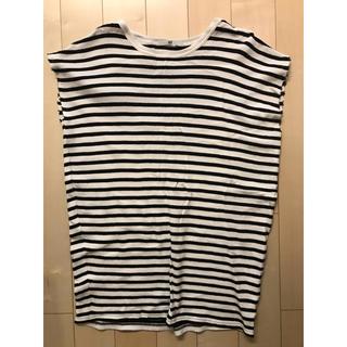スライ(SLY)のSLY 袖切りっぱなし ボーダー ロングT(Tシャツ(半袖/袖なし))