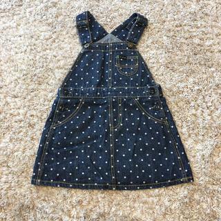 ブリーズ(BREEZE)の新品未使用 ブリーズ デニム サロペット♡ジャンパースカート 100cm(スカート)