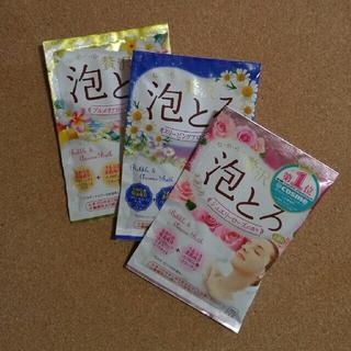 ギュウニュウセッケン(牛乳石鹸)の入浴剤 泡とろ 3コ(入浴剤/バスソルト)