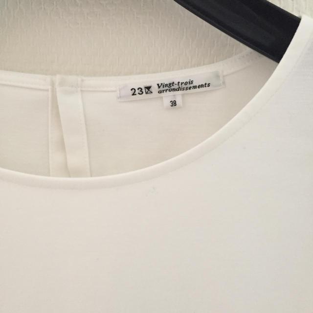 23区(ニジュウサンク)の23区 18ss カットソー レディースのトップス(カットソー(半袖/袖なし))の商品写真