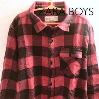 ザラ(ZARA)の【ザラ】キッズ チェックネルシャツ 140 ZARABOYS(ブラウス)