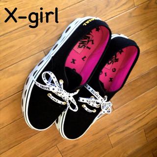 エックスガール(X-girl)の送料込!X-girl×VANSスニーカー(スニーカー)