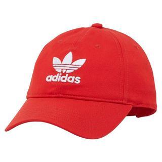 アディダス(adidas)のアディダスオリジナルス トレフォイル ロゴ キャップ レッド(キャップ)