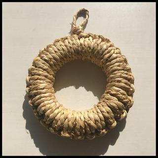 藁鍋敷き 約15cm(キッチン小物)