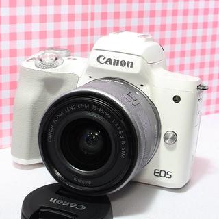 キヤノン(Canon)のセール中❤️新品❤️Canon EOS Kiss M レンズキット ホワイト(ミラーレス一眼)