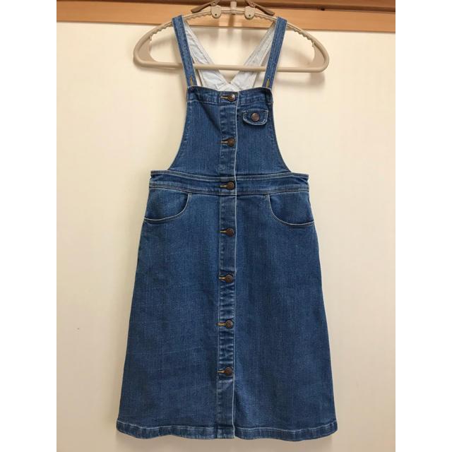 GU(ジーユー)のオーバースカート 女の子  140サイズ キッズ/ベビー/マタニティのキッズ服 女の子用(90cm~)(スカート)の商品写真