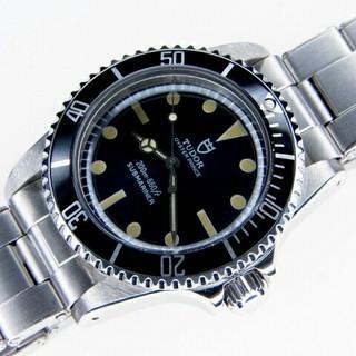 チュードル(Tudor)のビンテージ TUDOR サブマリーナ ブラック 盾マーク 自動巻(腕時計(アナログ))