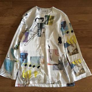 オープニングセレモニー(OPENING CEREMONY)のlow classic ノーカラープリントシャツ(シャツ/ブラウス(長袖/七分))