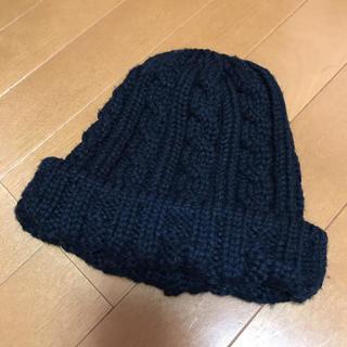 ローズバッド(ROSE BUD)のROSEBUD 黒色 ニット帽*(ニット帽/ビーニー)