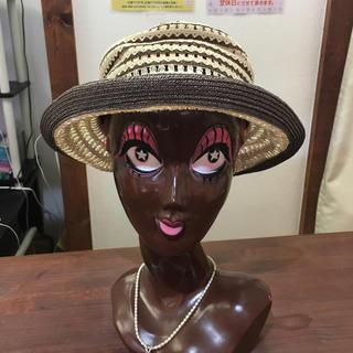 アウロラ(AURORA)のAURORA オーロラ ハット 帽子 綿 麻 日本製(ハット)
