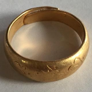 純金(金純)K24指輪約16号約9.3g(リング(指輪))