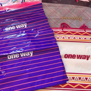 ワンウェイ(one*way)のワンウェイ ショップ袋 ショッパー  ビニール セット 限定ショッパー (ショップ袋)