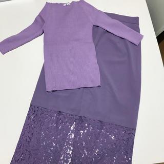 フレイアイディー(FRAY I.D)の新品未使用 FRAY ID トップス&スカート(ひざ丈スカート)