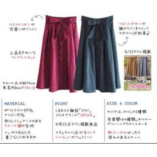 シマムラ(しまむら)のしまむら×vivi コラボ フレアロングスカート♡(ロングスカート)