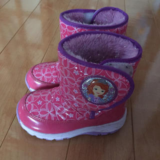 ディズニー(Disney)の防水あったかブーツ☆プリンセスソフィア☆スパイク付☆16.0cm☆送料込み(ブーツ)