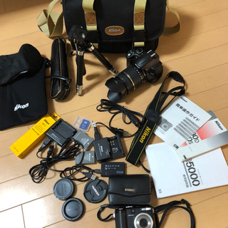 ニコン(Nikon)の[値下げ交渉歓迎]Nikon D5000 一眼レフカメラ デジカメ 各種付属品 (デジタル一眼)