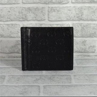 12f865c25842 グッチ(Gucci)のグッチ GUCCI 170580 メタルマネークリップ付 二つ折り財布 シマ(