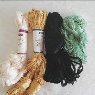 組紐糸 絹100%(生地/糸)