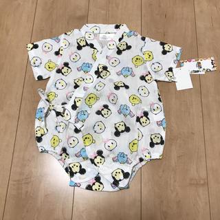 ディズニー(Disney)のディズニーツムツム甚平ロンパース60【新品未使用】(甚平/浴衣)