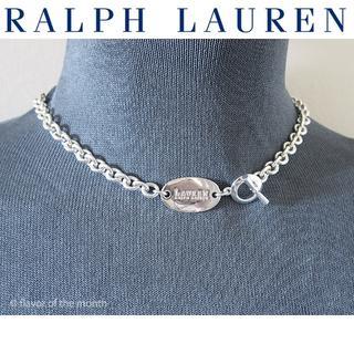 ラルフローレン(Ralph Lauren)のRalph Lauren クールなオーバル・ロゴチャームショートネックレス(ネックレス)