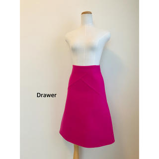 ドゥロワー(Drawer)のDrawer  メルトンフレアスカート(ひざ丈スカート)