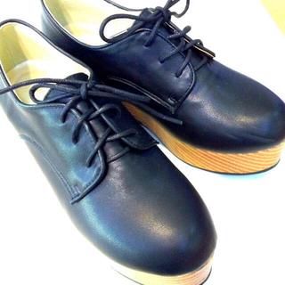 レトロガール(RETRO GIRL)のRETRO GIRL 厚底 ブラック(ローファー/革靴)