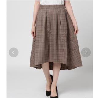 オリーブデオリーブ(OLIVEdesOLIVE)の【OLIVE des OLIVE 】グレンチェックテールスカート(ひざ丈スカート)