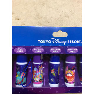 ディズニー(Disney)の未使用新品☆ディズニー   リップクリーム  ストラップ付き(リップケア/リップクリーム)