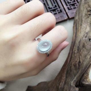 161 k18 翡翠 ヒスイ高級なリング 贅沢指輪  ピンクゴールドリング ダイ(リング(指輪))